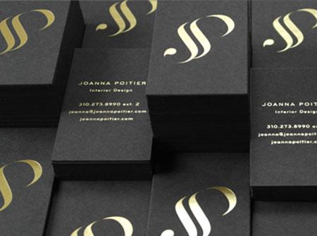 black gold business card designs