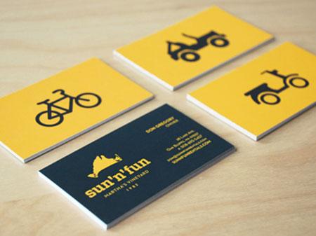 sun fun vehicle  business card designs