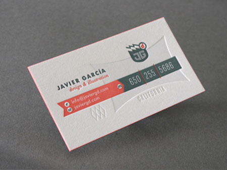 retro 3d business card designs