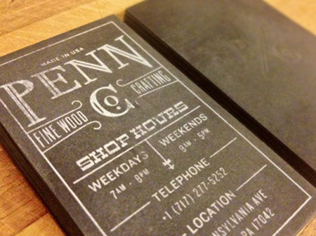 black wood business card designs