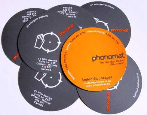record dj  business card designs