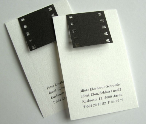 clipout film roll business card designs