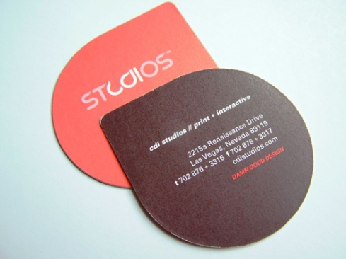 drop shaped business card designs