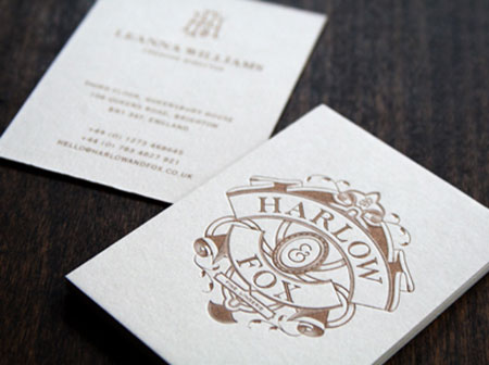 heraldry business card designs