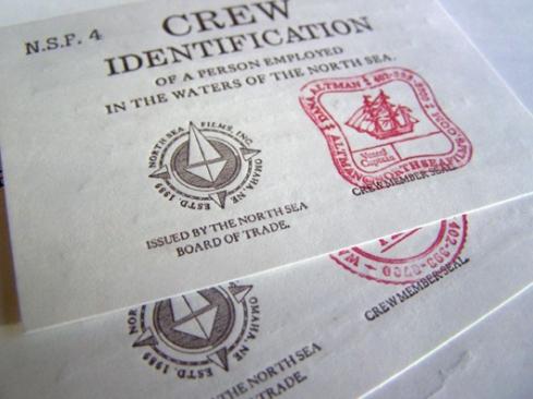 stamped vintage business card designs