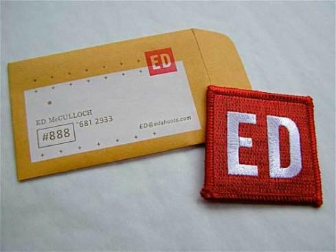 badge envelope business card designs