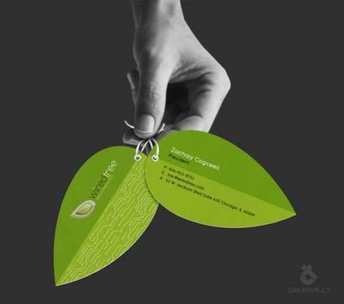 leaf business card designs
