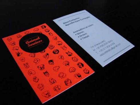 red blue business card designs