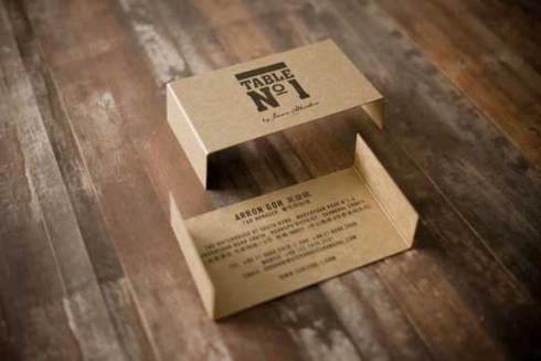 business card designs stand brown paper