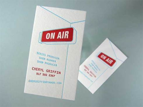 on air business card designs
