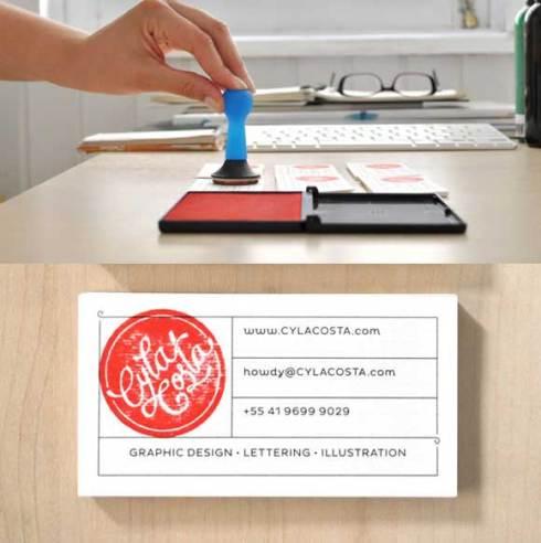 stamp business card designs