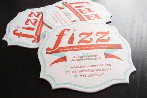 fizz business card designs