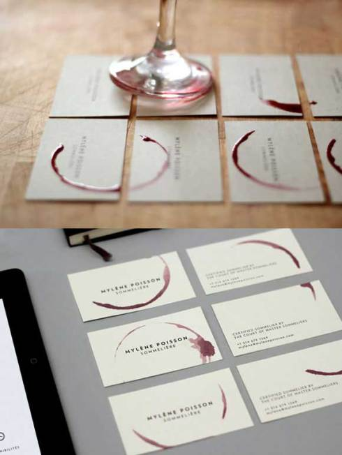 red wine business card designs