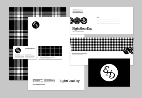 eight hour day business card designs