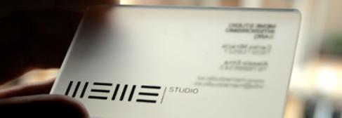 glass  business card designs