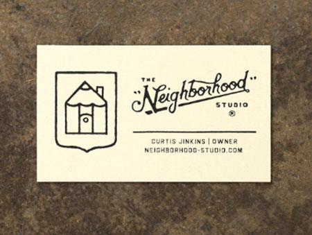 neighborhood business card designs