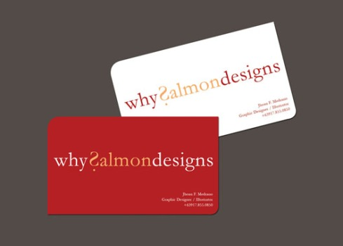 why salmondesigns  business card designs
