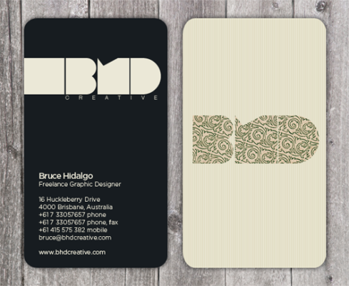 kitch pattern business card designs