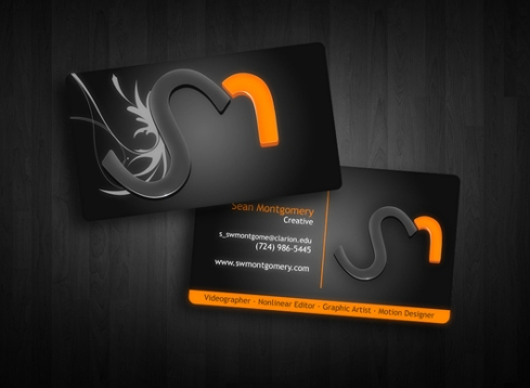 videographer  business card designs