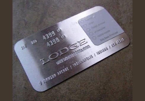 aluminium business card designs