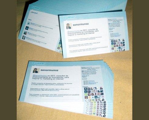 twitter business card designs
