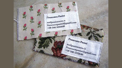 fabric business card designs