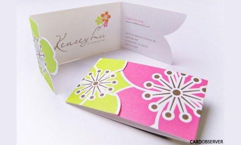 flower business card designs