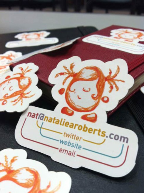 twitter website mail business card designs