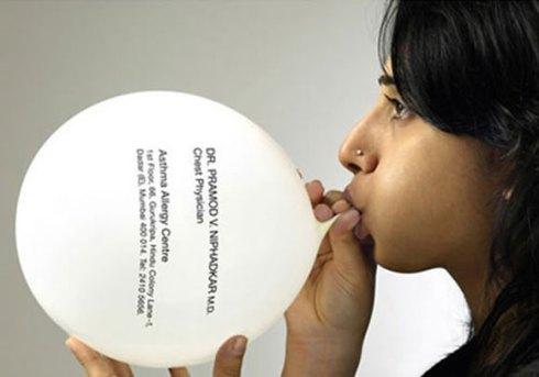 balloon business card designs