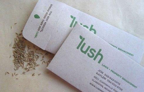 grass seed business card designs