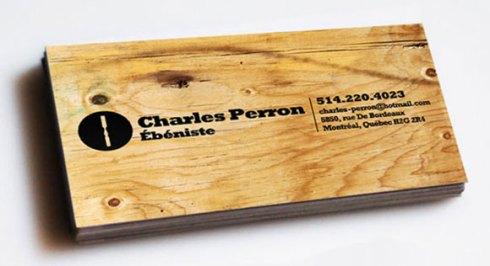 wooden business card designs