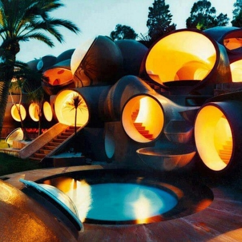 crazy designed hotel tubes