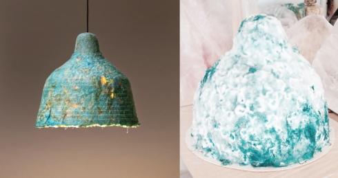 danish designer mushroom lamp